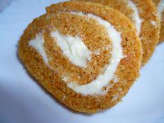 Sütőtökös-mascarpone-s tekercs | Sütivár Onion Rings, Winter Food, Sweet Life, Xmas, Cookies, Baking, Fitt, Cake, Ethnic Recipes