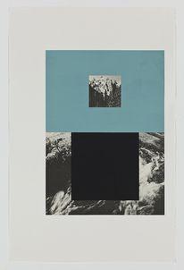 "Screen (mountain stream), Gouache on archival pigment print, 2011, 40"" x 26"" — Designspiration"