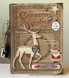 Hi and welcome!! It is time for another Tim Holtz Media Team tutorial, and now I am moving into Christmas projects. Today's tutorial is my December Daily journal for this year and I wanted to share it