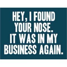 Nosy bitches
