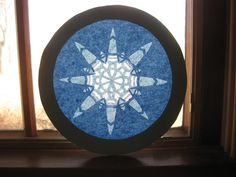 Window Star Rose Window Blue Tissue Paper by FolkOfTheWoodCrafts, $19.95