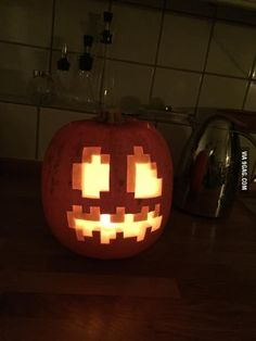 The post Carved Minecraft Halloween Pumpkin! appeared first on Halloween Pumpkins. Scary Pumpkin Carving, Halloween Pumpkin Carving Stencils, Halloween Pumpkin Designs, Amazing Pumpkin Carving, Pumpkin Carving Patterns, Pumpkin Stencil, Halloween Crafts, Halloween Decorations, Pumpkin Designs Carved