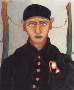 Roger Toulouse (French, 1918-1994)   The Young Man of the Hospice, 1947  Oil on canvas