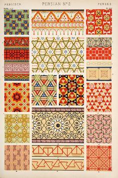 Mehrere Variationen eines Musters erstellen ------------- Persian patterns
