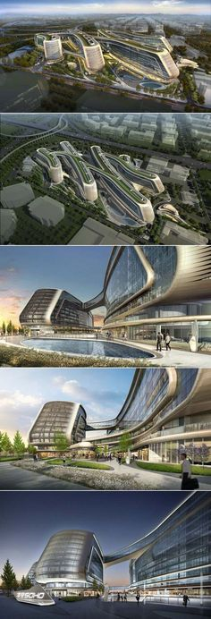 More fantastic futuristic architecture by Zaha Hadid www. More fantastic futuristic architecture by Zaha Hadid www.technocr… More fantastic futuristic architecture by Zaha Hadid www. Architecture Design, Green Architecture, Concept Architecture, Futuristic Architecture, Amazing Architecture, Landscape Architecture, Chinese Architecture, Facade Design, Contemporary Architecture