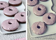 chocolate raspberry baked donuts |