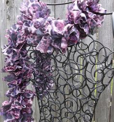 Ruffled Scarf in Purple Panther by FluffyGoatFeathers on Etsy, $22.00