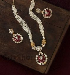 Latest Indian Gold And Diamond Jewellery Designs Pearl