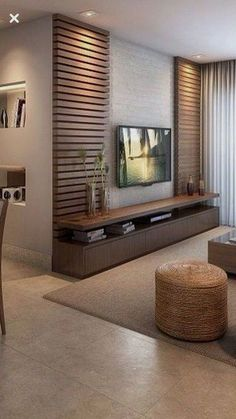 Meuble Tv Angle, Living Room Tv Unit, Living Room Decor, Living Room Designs, Be… - Home Decoraiton Living Room Sets, Home Living Room, Tv Wall Ideas Living Room, Tv Living Rooms, Tv On The Wall Ideas, Apartment Living, Indian Living Rooms, Apartment Kitchen, Kitchen Living