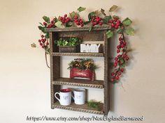 Farmhouse Style Shelf Primitive Shelf by NewEnglandBarnwood