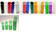 Pill Boxes Pill Cases: 60 Dram Rx Pharmacy Bottle 275 Pc Case Color Squeeze Pop Top Container 420 Usa BUY IT NOW ONLY: $199.95