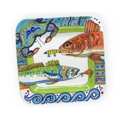 Square Fish Platter by Dana Wtitmann http://www.adlersjewelry.com/product.php?scid=20&pid=5578