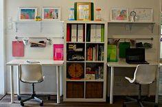 Best kids playroom organization ikea homework station ideas - Image 6 of 24 Desk Areas, Study Areas, Study Rooms, Study Desk, Desk Space, Kids Homework Room, Kids Homework Station, Computer Station, Boys Desk