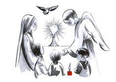 Seigneur, je t'adore, je m'incline en ta sainte présence. Jésus, je te donne mon cœur ! Seigneur, je t'adore. Je respecte ta sainte présence. Jésus, parle, je t'écoute. Mon Dieu, je crois, j'adore …