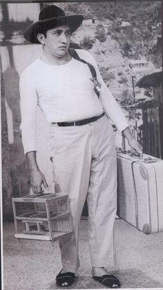 Simon Diaz en uno de los personajes del principio de la tv en Venezuela, el programa La quinta de Simon años 50- 60