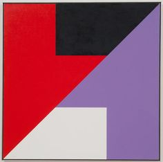 Frederick Hammersley<BR> Whether Vane, 1980<BR> oil on linen<BR> 45 x 45 in. (114.3 x 114.3 cm)<BR>framed: 45 7/8 x 45 3/4 in. (116.5 x 116.2 cm)