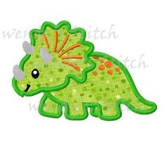 Dinosaur applique machine embroidery design digital pattern
