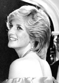"""October 24, 1983: Princess Diana at the premiere of """"Hay Fever"""" at the Queen's…"""