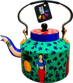 <p>Pyjama Party's range of colourful hand-painted kettles add a dash of quirky, funky, kitsch to your home. Intricate detailing and vibrant colours makes for a perfect kettle to serve tea in or as a decor.</p>