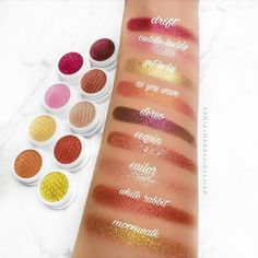 Colourpop Super Shock Swatches!! Seriously this formula is unreal Whats your favourite? Follow @fiftydifferentpinks