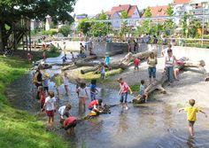 Wasserspielplatz im Blumensommerpark Nordheim