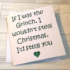 Christmas Card For Boyfriend Girlfriend Him Birthday