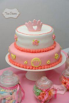 Torta Decorada para Cumples de Princesas.