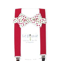 Red White Navy Green Boys Christmas Necktie