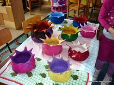 wet felting- I want to learn how to make these awesome spiky bowls! Chihuly?