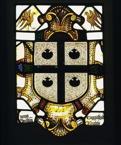 Stained glass panel with the arms of the Beaupré family 1570 England