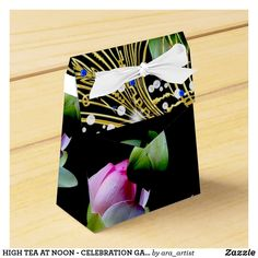 HIGH TEA AT NOON - CELEBRATION GATHERING ACCESSORY FAVOR BOX