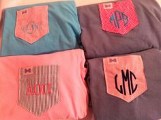 The Frat Collection and Miss Monogram t-shirts