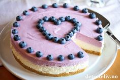 Skyrkake med sitron og blåbær | Det søte liv