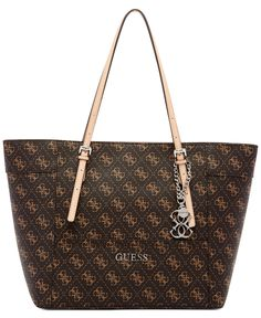 GUESS Delaney Signature Small Classic Tote - All Handbags - Handbags & Accessories - Macy's