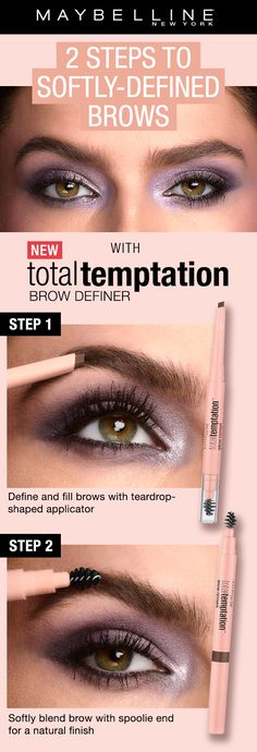 b93d6f901f4 Two steps to perfect, softly defined and natural brows with NEW Total  Temptation Brow Definer