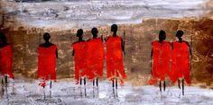 #Afrique #Tableau #Décoration #Peinture #Abstrait #Fcdeco…