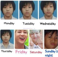Days of the week - Bambam style