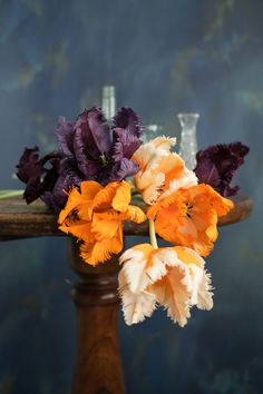 Paper Flower Art — Crafted to Bloom Paper Flower Art, Paper Flowers, Black Bouquet, Coral Charm Peony, Flower Artists, Open Rose, Parrot Tulips, Paper Bouquet, Dark Flowers