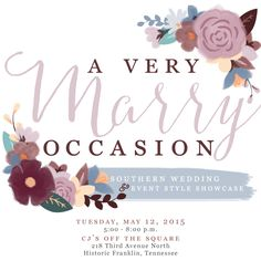 Please join us for this awesome Nashville wedding show at CJ's Off the Square. Get your tickets now before they sell out!