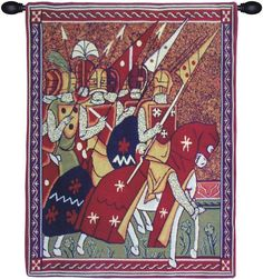 Woven in Belgium History: Godfrey of Bouillon Belgian Tapestry is set in the time period of (c. 1060, – 18 July 1100) Godfrey of Bouillon was a Duke of Lower Lo