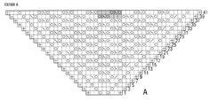 Вязание спицами. Схема ажурного узора для шали из мохера
