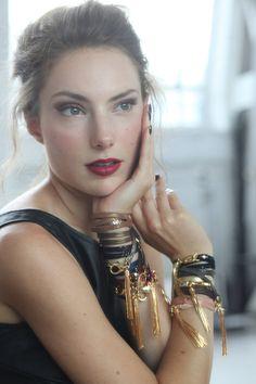 Bronze Leather Triple Wrap Tassel Bracelet Jewelry by ekammeyer, $55.00