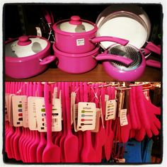 Pink Kitchen Utensils Decor Hot Cute Items