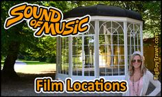 FREE do-it-yourself Sound of Music movie tour in Salzburg Austria. Visit the film locations on foot or by bike tour with our free Sound of Music movie tour map. See the best sights from The Sound of Music walking tour including Gazebo Pavilion Location, dwarf statues, horse fountain, wedding church, do re mi singing spots from the SOM movie. Getting to the Sound of Music Julie Andrews' Meadow and the Von Trapp family mansion home location.