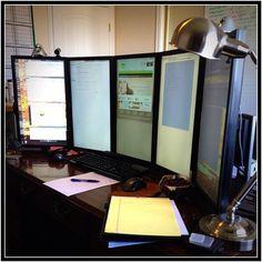 Computer Geek! Making five screen work perfectly