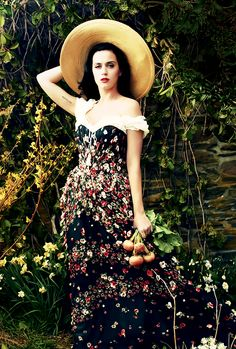 Katy Perry Vogue- this is exactly how I imagine myself going to the farmers market. I must make it happen