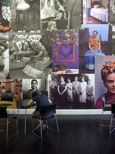 Frida Kahlo wall in Tate museum cafe - the Kahlo exhibition was truly wonderful.