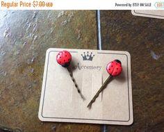 42 Percent off Hair Pin Bobby Pin  Ladybug hair pins by EMTWTT