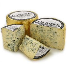 Cashel Blue from Ireland - great with apple slices, a chunk of good bread and a drizzle of aged balsamic