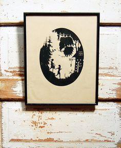 Vintage Framed Hansel & Gretel by TheWeatheredBungalow on Etsy, $40.00